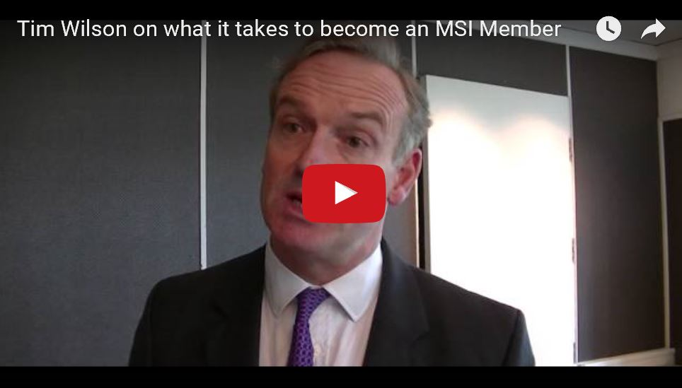 Becoming an MSI Member - Tim Wilson